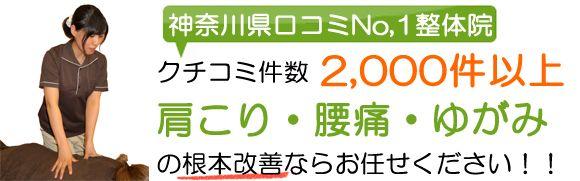 横浜の口コミ1.000件を超える整体院 肩こり、腰痛なら三輪整骨院・鍼灸マッサージ院